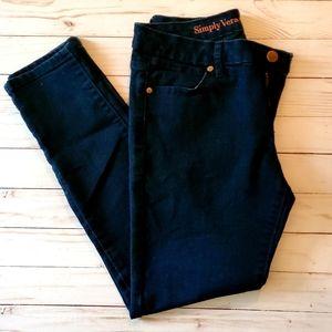 Simply Vera Skinny Ankle Jeans